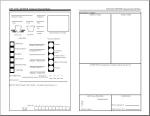 Delving Deeper Character Sheet
